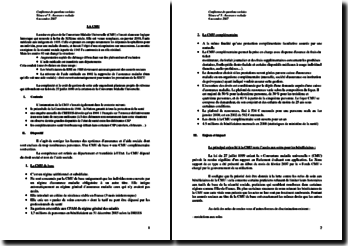 La Couverture Maladie Universelle - historique, CMU de base et CMU complémentaire