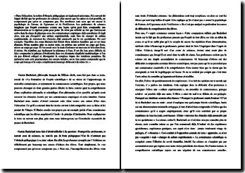 Bachelard, La Formation de l'esprit scientifique (étude d'un extrait)