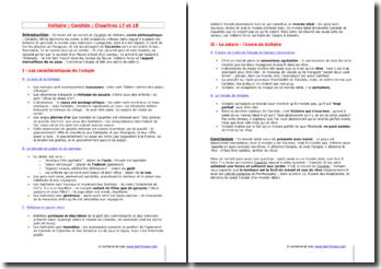 Voltaire, Candide, Chapitres 17 et 18 : L'Eldorado