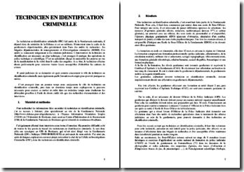 Technicien en identification criminelle : rôle, formation et débouchés