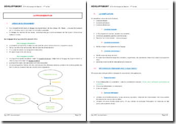 La programmation : langages de programmation, compilation, méthodes de débogages...