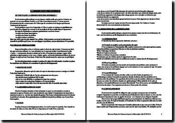 Méthodologie de la dissertation philosophique