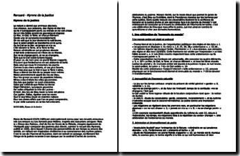 Ronsard, Hymne de la Justice