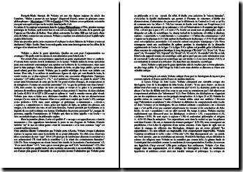Voltaire, Les Lettres philosophiques, Lettre XIII (Sur Locke)