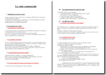 La vente commerciale : définition, formation, caractéristiques, ... du contrat de vente