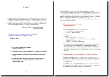 La Bruyère : Les Caractères, Des biens de fortune : commentaire