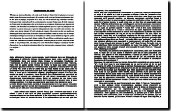 Alain, Elements de philosophie : l'inconscient