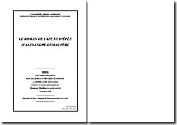 Thèse de doctorat : le roman de cape et d'épée d'A. Dumas