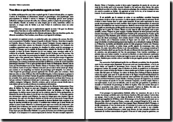 Dissertation : qu'est-ce que la représentation théâtrale apporte au texte ?