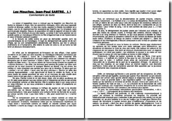 J-P Sartre, Les Mouches, Acte I scène 3