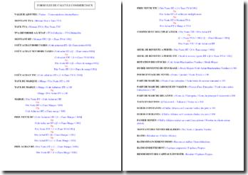 Formules de calculs commerciaux (BTS MUC)