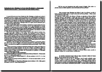 Montaigne, Les Essais, Livre III, Chapitre 6 : explication de texte