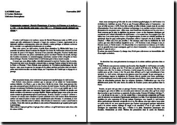 Patrick Chamoiseau, L'esclave vieil homme et le molosse (p. 134 à 136) : commentaire composé