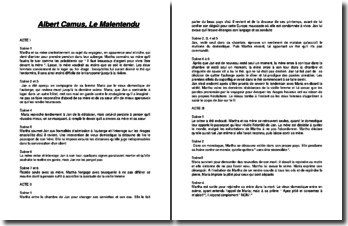 Albert Camus, Le Malentendu