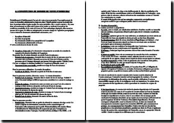 La constitution du dossier de vente d'immeuble