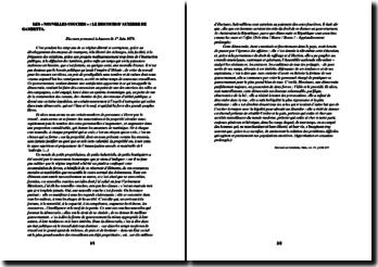Le discours d'Auxerre de Gambetta (1/1/1874) ou les nouvelles couches sociales