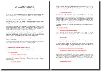 La Jacquerie (1358) : commentaire des textes de Jean Le Bel et de Jean de Venette