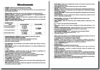Lexique de microéconomie