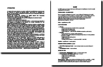 Le Contrat à Durée Déterminée (CDD) : élaboration, période d'essai, etc.