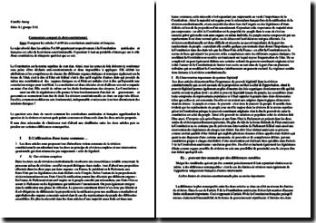 Comparaison des articles 5 de la constitution américaine et 89 de la constitution française