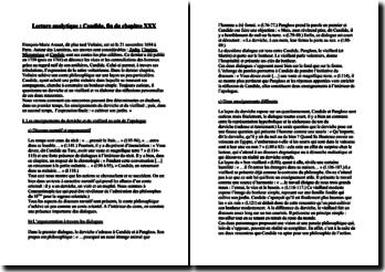 Voltaire, Candide, fin du chapitre 30