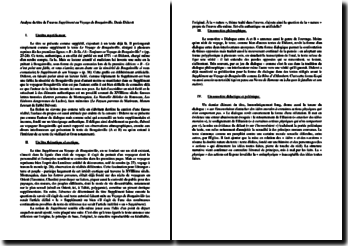Diderot, Supplément au Voyage de Bougainville : analyse du titre