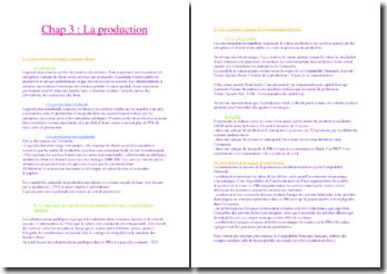 La production marchande et non marchande