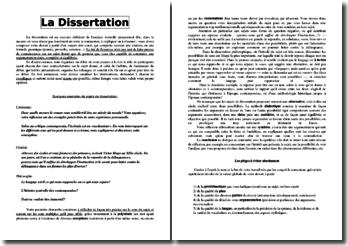 Méthodologie de la dissertation littéraire