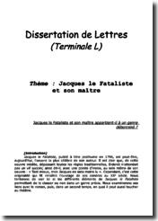 dissertation jacques le fataliste et son maitre