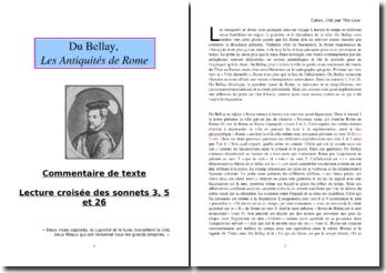 Du Bellay, Les Antiquités de Rome, Sonnets 3, 5 et 26