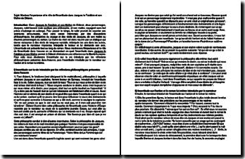 Diderot, Jacques le Fataliste, l'incertitude