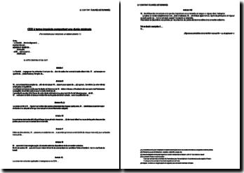 Exemple de CDD à terme imprécis comportant une durée minimale