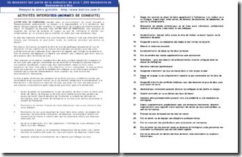 Politique relative aux activités interdites (normes de conduite)