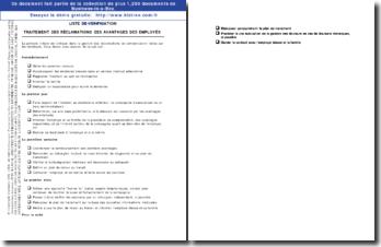 Checklist : traitement des demandes de compensation