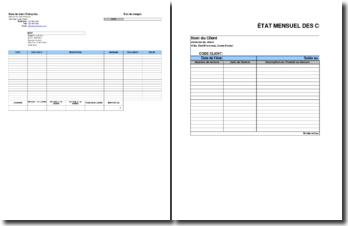 Etat mensuel des comptes clients et créance