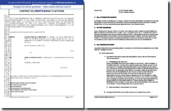 Contrat de droit d'achat d'actions