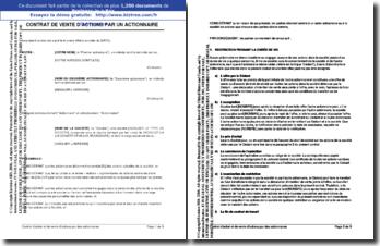 Contrat d'achat et de vente d'actions par un actionnaire