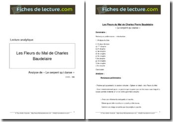 Baudelaire, Le serpent qui danse, tiré de Les Fleurs du Mal