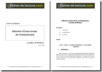 Chateaubriand, Mémoires d'Outre-Tombe, La laideur de Mirabea