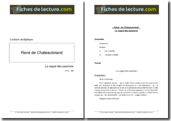 Chateaubriand, La Vague des passions