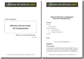 Chteaubriand, Mémoires d'Outre-Tombe, Hier soir, je me promenais seul... - le dialecte des deux mémoires