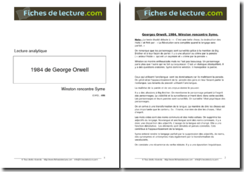 Georges Orwell, 1984, Winston rencontre Syme