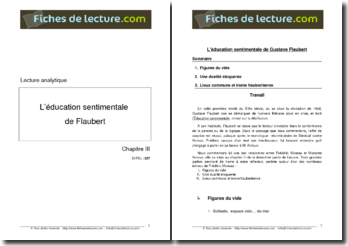 Gustave Flaubert, L'Education sentimentale, Chapitre III
