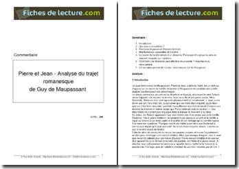 Guy de Maupassant, Pierre et Jean, Analyse du trajet romanesque
