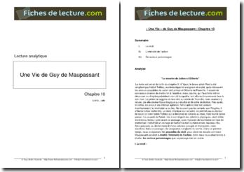 Guy de Maupassant, Une Vie, Chapitre 10