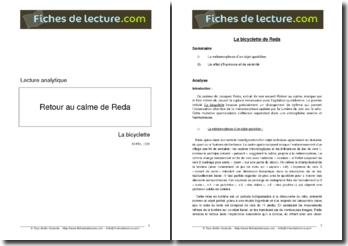 Jacques Réda, La Bicyclette, tiré de Retour au calme