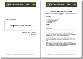 Jean Anouilh, Antigone, Antigone face à Créon