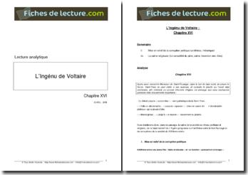 Voltaire, L'Ingénu Chapitre XVI - Lecture analytique