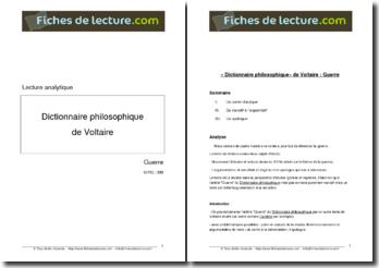 Voltaire, Dictionnaire philosophique, La guerre