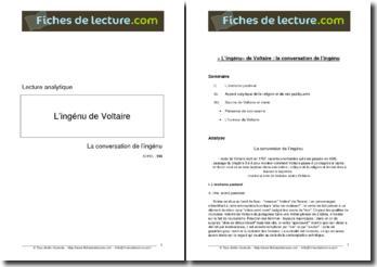 Voltaire, L'Ingénu, La conversation de l'ingénu